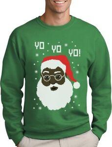 image is loading yo yo yo black santa ugly christmas sweater