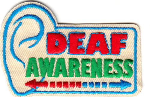 "MEDICAL IRON ON EMBROIDERED PATCH PROFESSION HEARING /""DEAF AWARENESS/"""