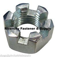 Farmall Tractor Radiator Fuel Tank Castle Nuts 7/16-20 Fine Thread Lot Of 5