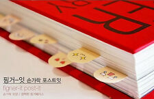 Adhesive 200 pages Paper Fingers Sticker Bookmark Memo Sticky Note Pad JNLA