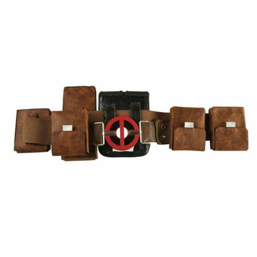 Deadpool 2 Costume Wade Cosplay Mask Belt Holster Gloves Props Men Accessories