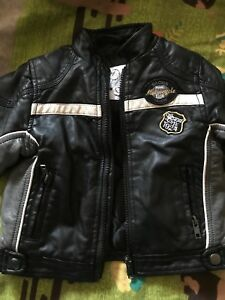 leather jacket bottoms shirt with leather details scarf biker style 12 months - Coventry, United Kingdom - leather jacket bottoms shirt with leather details scarf biker style 12 months - Coventry, United Kingdom
