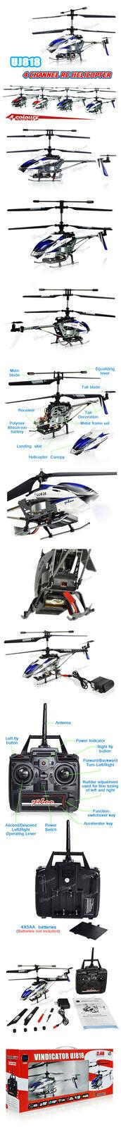 UJ 818 YIBOO Brand New MEDIUM 4 CH 12  RC Helicopter