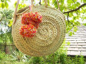 Moroccan Handmade Straw Beach Bag