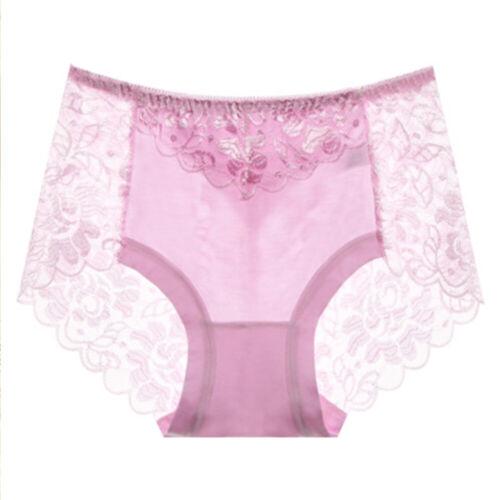 Plus Size Women Panties Lace Briefs Breathable Underwear Knickers Lingerie M-3XL