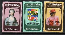 ST.VINCENT SG699/701 1982 BIRTH OF PRINCE WILLIAM MNH