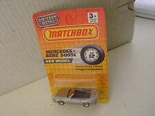1990 MATCHBOX SUPERFAST MB12 #12 SILVER MERCEDES BENZ 500SL CONVERTIBLE NEW MOC