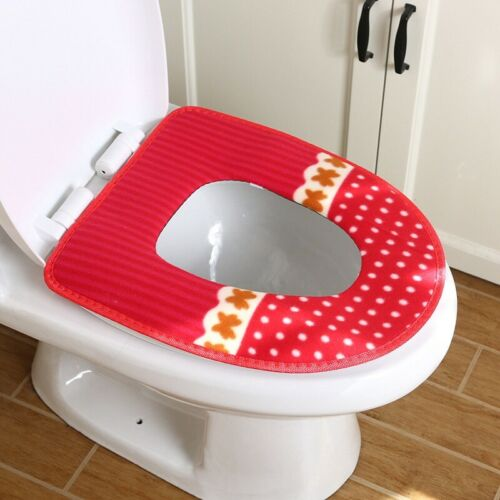 1pc Bathroom Toilet Seat Closestool Warmer Mat Cover Pad Cushion Cover Reusable