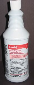 Lot of 6 Bottles Diversey 5877493 Suma Grill Oven High Temp Cleaner 9.8