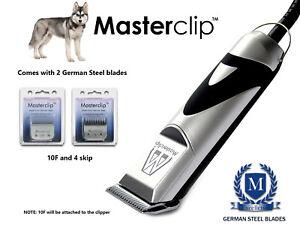 Ensemble de tondeuses Husky Sibérien pour chiens avec 2 lames en acier allemandes Bymasterclip 5060207017251