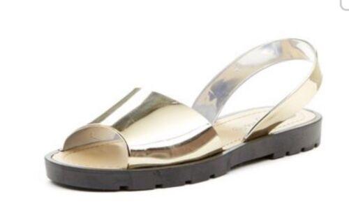 Women/'s Sling Back Gelées JELLY Shoes Or Argent Métallique Taille 3 5,6 Sandales