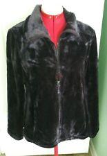 32 Degrees Heat Women/'s Plush Faux Fur Full Zip Mock Neck Jacket SZ M NWT
