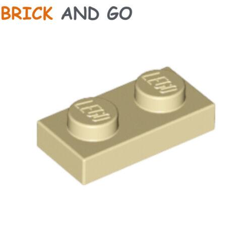 beige 10 x LEGO 3023 Plaque NEUF NEW brick yellow, tan Plate 1x2