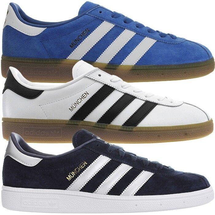 Adidas munich señores low-Top zapatillas cuero casual zapatillas de deporte nuevo