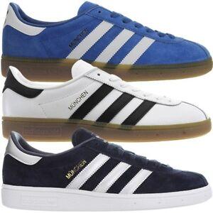 Details zu Adidas München Herren low top Sneakers Leder Freizeitschuhe Turnschuhe NEU