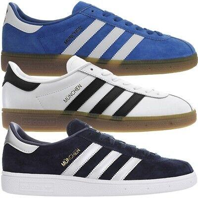 Adidas München Herren low top Sneakers Leder Freizeitschuhe Turnschuhe NEU | eBay