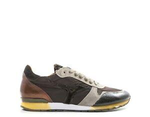 Scarpe-MIZUNO-Uomo-Sneakers-trendy-MARRONE-Scamosciato-Tessuto-D1GB174755