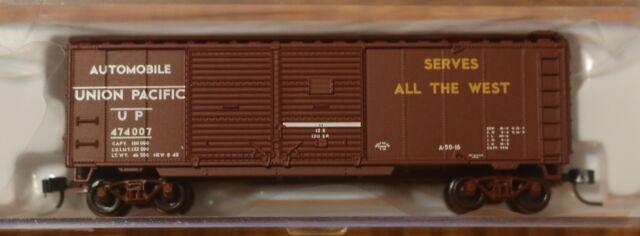 Rd #474007 Trainman Atlas N #50001930 Union Pacific 40/' Double Door Box Car