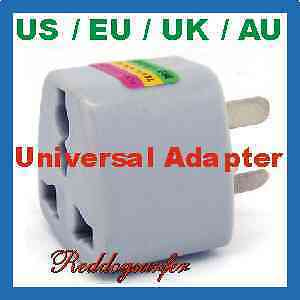 Universal UK/US/EU/AU to AU Australian Travel Power Adapter 3 prong pins