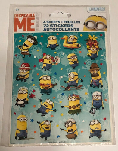 Despicable Me 4 Sheets 72 Stickers