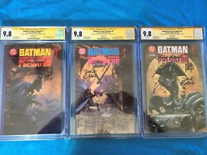 Batman-vs-Predator-1-3-set-CGC-SS-9-8-Signed-by-Adam-Andy-Kubert-D-Gibbons