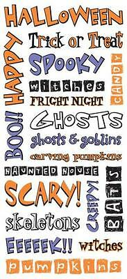 Sandylion HALLOWEEN PHRASES Clear Stickers Scrapbooking Cardmaking Paper Crafts