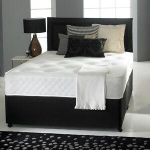 Memory foam divan bed set mattress headboard size 3ft for 3ft divan bed and mattress