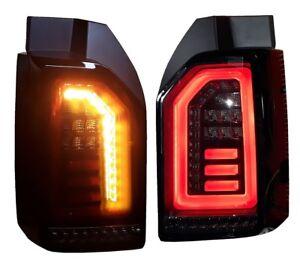 schwarze-LED-Rueckleuchten-fuer-VW-T6-Bus-2015-DYNAMISCHER-BLINKER-rote-Lightbar