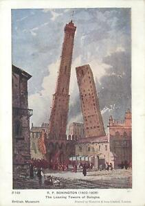 Postcard-Paintings-The-leaning-towers-of-Bologna