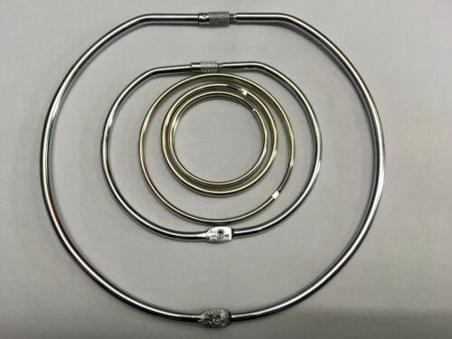 Large Jailers Fob Split Ring 50mm 58mm 75mm 100mm 150mm Rings Keyring