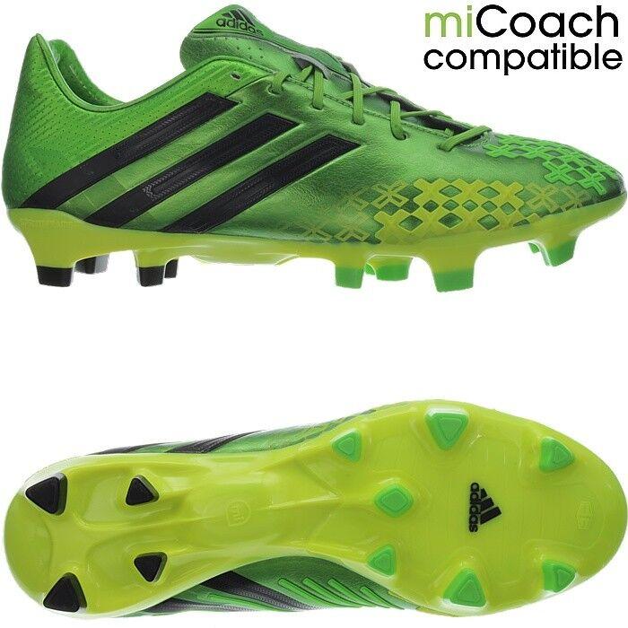 Adidas Predator LZ TRX FG green/nero professional Uomo soccer cleats boots NEW