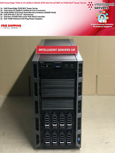 Dell PowerEdge T630 2x E5-2630v3 256GB PercH730P 32TB SAS 2x 750W Tower Server