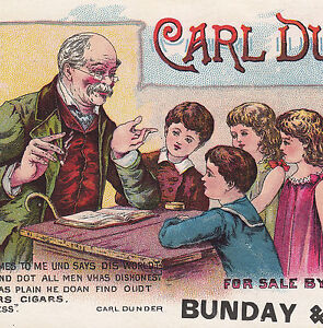Carl-Dunder-Brown-Bro-Cigar-Detroit-Tobacco-Poem-School-Teacher-Advertising-Card
