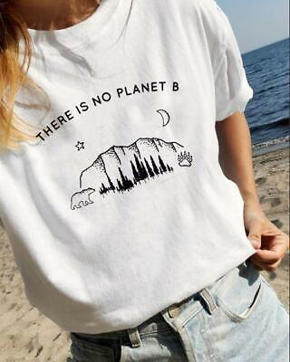 Non C'è Nessun Pianeta B Graphic Streetstyle Ethical Fashion Unisex Bambino T-shirt Per Adulti-mostra Il Titolo Originale Gamma Completa Di Articoli