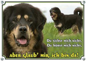 Do Khyi - Tibet Mastiff Dog Warning Sign Enseigne en métal de première qualité