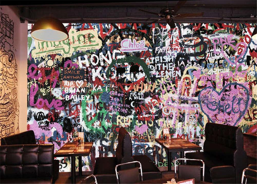 lila Vivid Drawing 3D Full Wall Mural Photo Wallpaper Printing Home Kids Decor