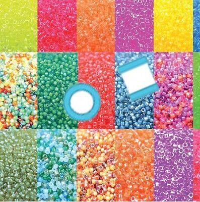 Miyuki Delica 11//0 7 grams 1200 Glass Seed Beads Luminous 18 colors U-Pick