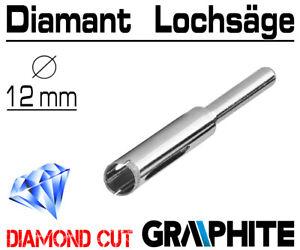 Fliesen 12mm Diamant Hohlbohrer für Feinsteinzeug Bohrkrone Lochbohrer Granit