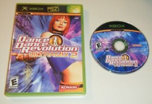 Dance-Dance-Revolution-Ultramix-2-GAME-amp-CASE-XBOX-system-GC-KIDS-DANCE-DDR
