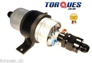 Bosch-044-Fuel-Pump-Billet-Cradle-AN-8-Check-Valve-Output-AN-8-Input-BLACK