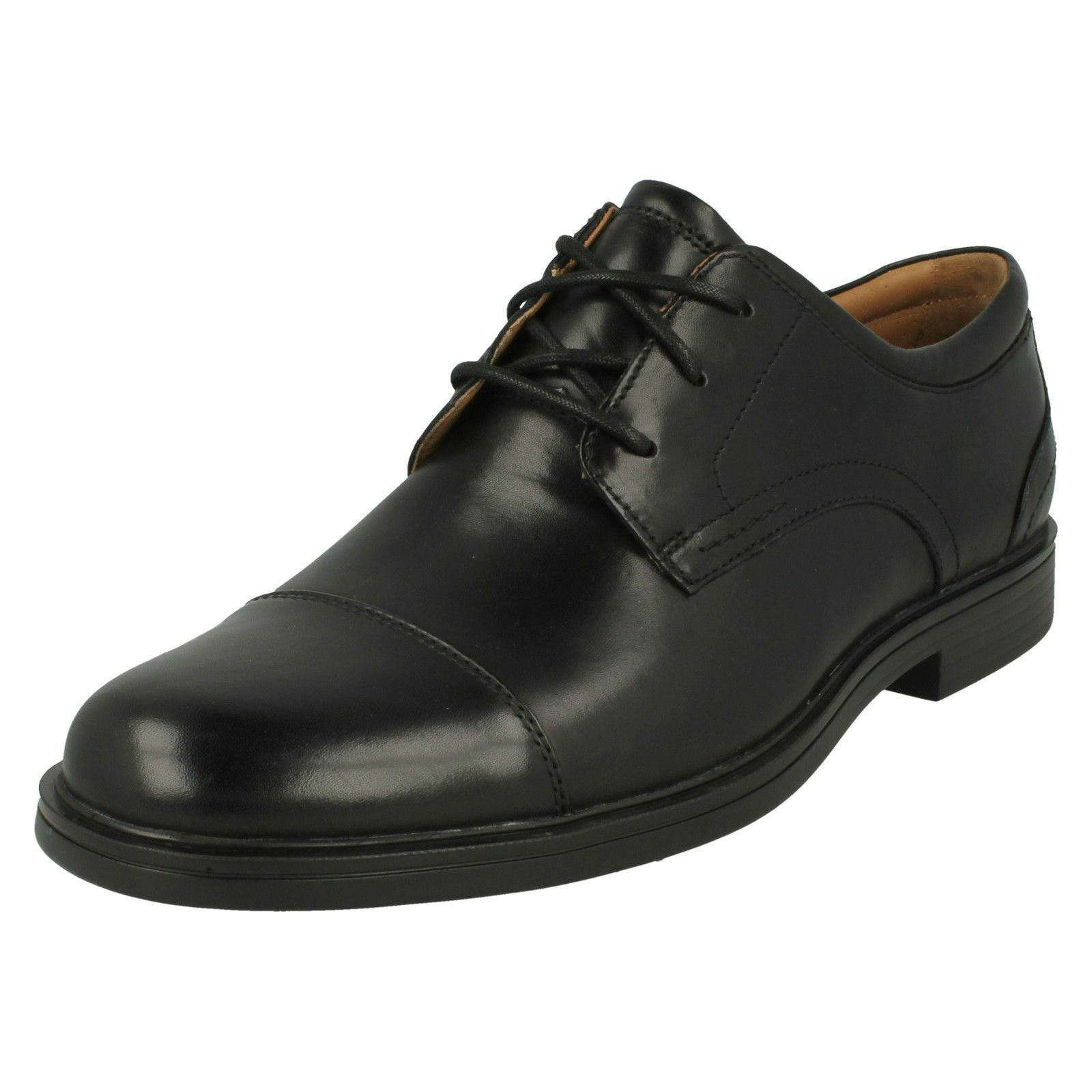Mens Clark Formal Lace Up Shoes 'Un Aldric Cap'