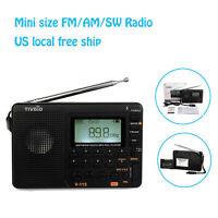 Tivdio V-115 Fm/am/sw Mini Radio World Band Receiver Mp3 Player +battery Us