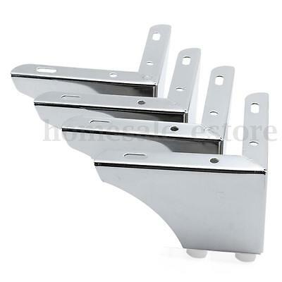 4 Stainless Steel Sofa Leg Cabinet Corner Table Desk Furniture Metal Chrome Feet