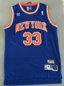 the latest a40a8 b8a81 Details about New Patrick Ewing #33 New York Knicks Swingman Throwback  Jersey Blue Size S-XXL