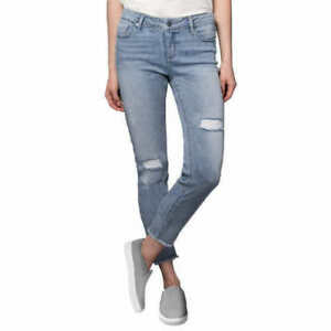 15e10c4597e8 NEW Women s KENNETH COLE Light Wash Ripped Jess Skinny Jeans Jean ...