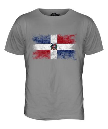 DOMINICAN REPUBLIC DISTRESSED FLAG MENS T-SHIRT TOP REP?BLICA DOMINICANA SHIRT