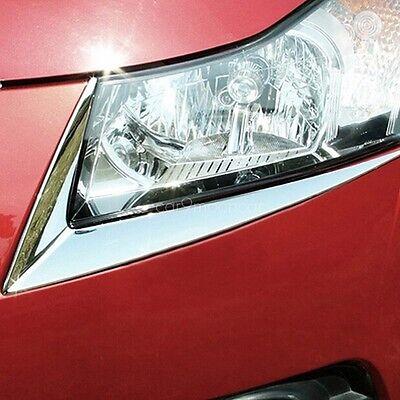 ABS Chrome Headlight Trim Sticker Lamp Eyebrow Cover for Chevrolet Chevy Cruze