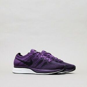 best loved ad655 7dd61 Image is loading Nike-Flyknit-Trainer-NIGHT-PURPLE-RACER-BLACK-WHITE-