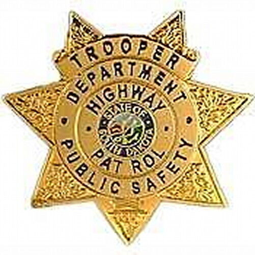South Dakota SD Highway Patrol TROOPER mini badge LAPEL PIN (state police)  SDHP