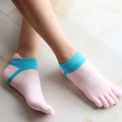 Women High Quality Sport Ankle HLotect Foot Comfortable Five Fingers Toe Sock JX